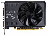 Видеокарта EVGA GeForce GT 740 (1085МГц, GDDR5 1024Мб 5000МГц 128 бит)