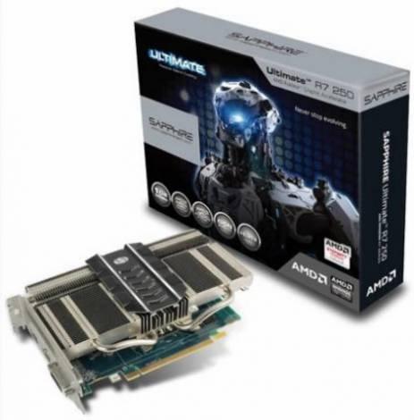 Бесшумная видеокарта Radeon R7 250 Ultimate от Sapphire