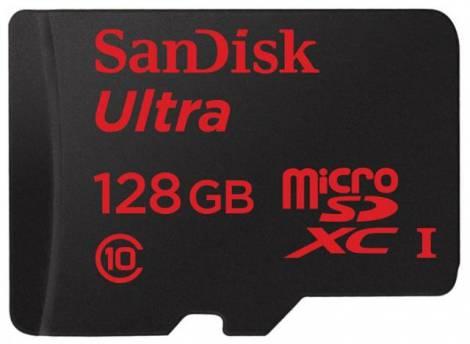 Карта microSDXC емкостью в 128 ГБ