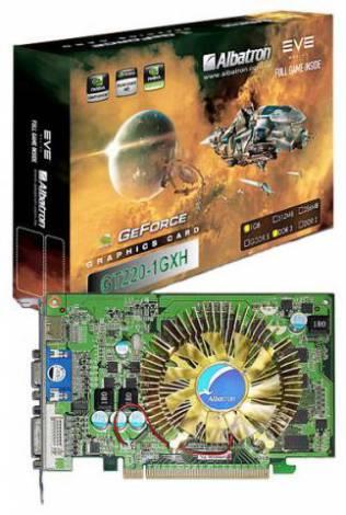 Видеокарта Albatron GeForce GT 220 (625МГц, GDDR3 1024Мб 1333МГц 128 бит)