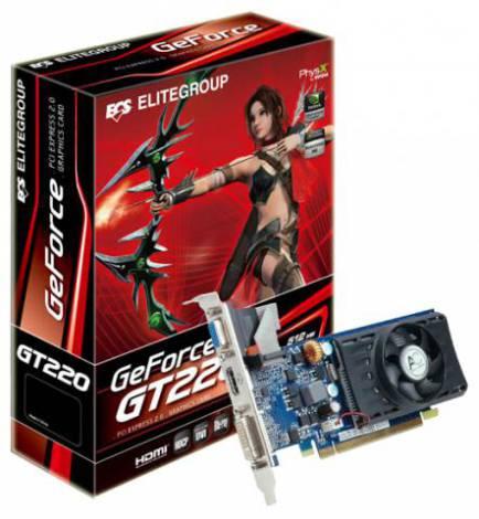 Видеокарта ECS GeForce GT 220 (625МГц, GDDR2 512Мб 1000МГц 128 бит)