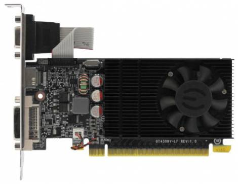 Видеокарта EVGA GeForce GT 730 (700МГц, GDDR3 2048Мб 1400МГц 128 бит)