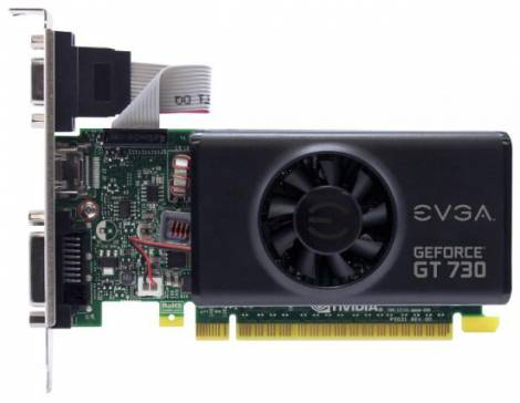 Видеокарта EVGA GeForce GT 730 (902МГц, GDDR5 1024Мб 5000МГц 64 бит)