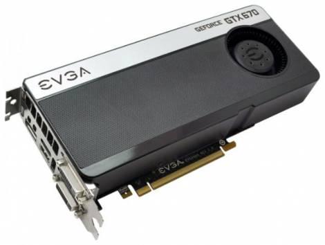 Видеокарта EVGA GeForce GTX 670 (967МГц, GDDR5 2048Мб 6008МГц 256 бит)