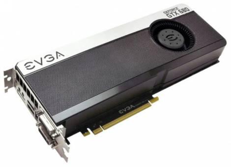 Видеокарта EVGA GeForce GTX 680 (1006МГц, GDDR5 2048Мб 6008МГц 256 бит)