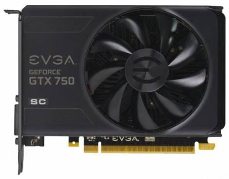 Видеокарта EVGA GeForce GTX 750 (1215МГц, GDDR5 1024Мб 5012МГц 128 бит)