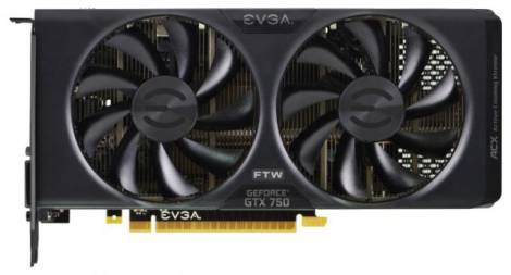 Видеокарта EVGA GeForce GTX 750 (1229МГц, GDDR5 2048Мб 5012МГц 128 бит)
