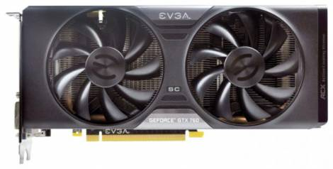 Видеокарта EVGA GeForce GTX 760 (1072МГц, GDDR5 2048Мб 6008МГц 256 бит)