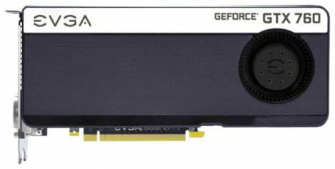 Видеокарта EVGA GeForce GTX 760 (980МГц, GDDR5 4096Мб 6008МГц 256 бит)