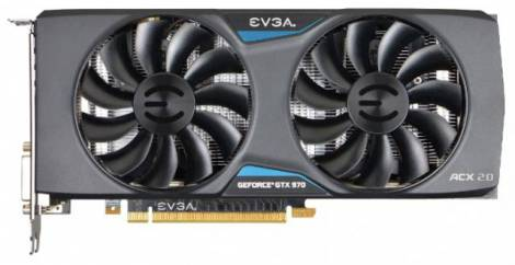 Видеокарта EVGA GeForce GTX 970 (1165МГц, GDDR5 4096Мб 7010МГц 256 бит)