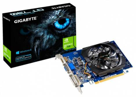Видеокарта GIGABYTE GeForce GT 730 (902МГц, GDDR3 1024Мб 1800МГц 64 бит)