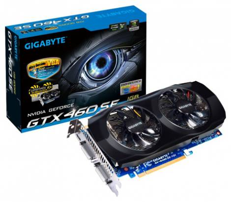 Видеокарта GIGABYTE GeForce GTX 460 SE (730МГц, GDDR5 1024Мб 3400МГц 256 бит)