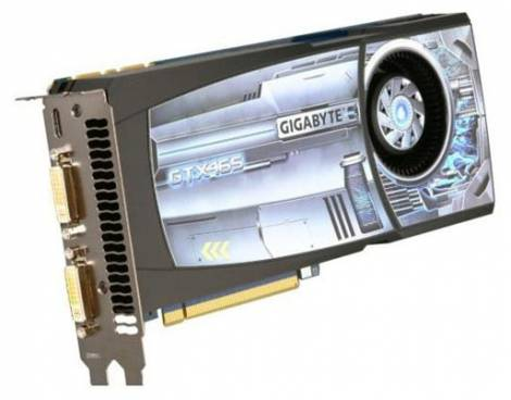 Видеокарта GIGABYTE GeForce GTX 465 (607МГц, GDDR5 1024Мб 3206МГц 256 бит)