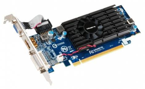 Видеокарта GIGABYTE Radeon HD 5450 (650МГц, GDDR3 1024Мб 1333МГц 64 бит)