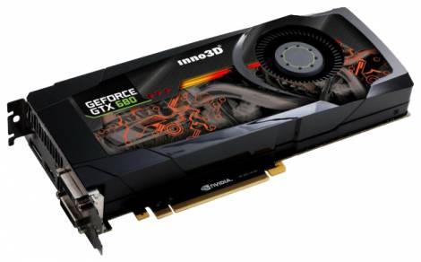 Видеокарта Inno3D GeForce GTX 680 (1006МГц, GDDR5 4096Мб 6008МГц 256 бит)