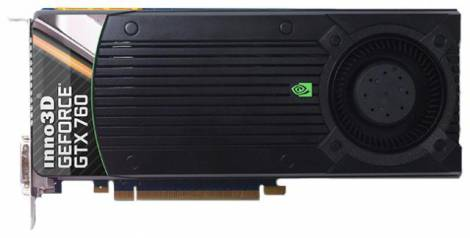 Видеокарта Inno3D GeForce GTX 760 (980МГц, GDDR5 2048Мб 6008МГц 256 бит)