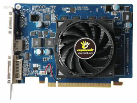 Видеокарта Manli GeForce GT 220 (625МГц, GDDR2 512Мб 800МГц 128 бит)
