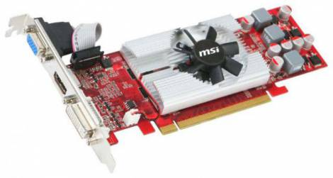 Видеокарта MSI GeForce GT 220 (625МГц, GDDR3 512Мб 960МГц 64 бит)