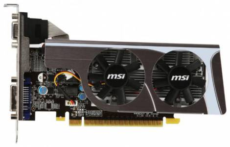 Видеокарта MSI GeForce GT 440 (810МГц, GDDR3 1024Мб 1800МГц 128 бит)