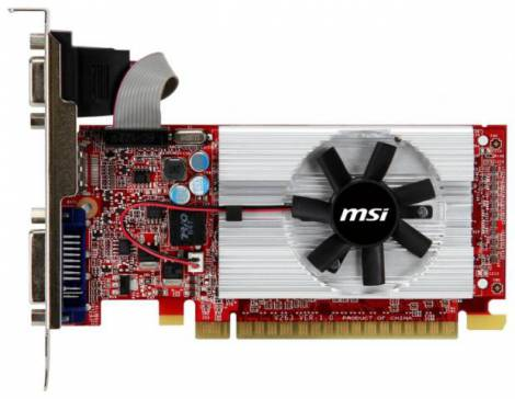 Видеокарта MSI GeForce GT 520 (810МГц, GDDR3 2048Мб 1000МГц 64 бит)