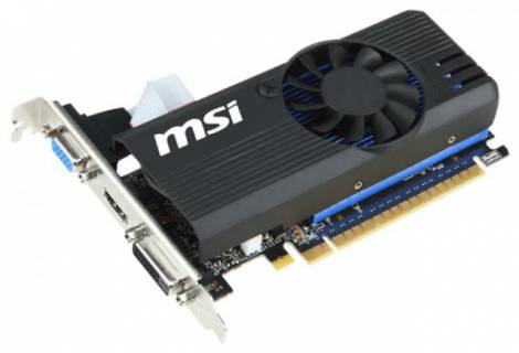 Видеокарта MSI GeForce GT 730 (1006МГц, GDDR5 1024Мб 5000МГц 64 бит)