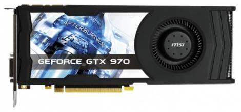 Видеокарта MSI GeForce GTX 970 (1076МГц, GDDR5 4096Мб 7010МГц 256 бит)