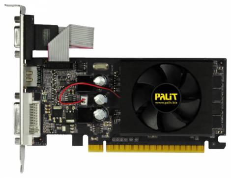 Видеокарта Palit GeForce GT 610 (810МГц, GDDR3 2048Мб 1070МГц 64 бит)