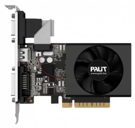Видеокарта Palit GeForce GT 730 (900МГц, GDDR3 1024Мб 1804МГц 64 бит)