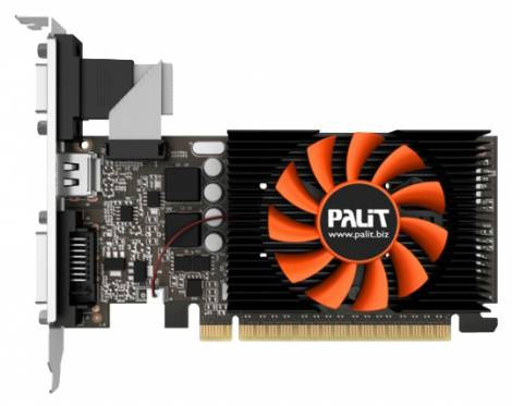 Видеокарта Palit GeForce GT 730 (902МГц, GDDR5 1024Мб 5000МГц 64 бит)