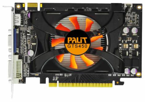 Видеокарта Palit GeForce GTS 450 (783МГц, GDDR3 1024Мб 1400МГц 128 бит)
