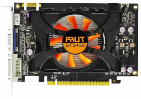 Видеокарта Palit GeForce GTS 450 (783МГц, GDDR3 1024Мб 1400МГц 128 бит)