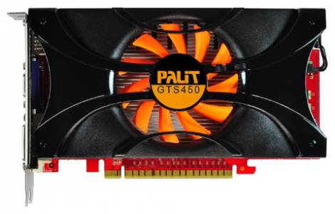 Видеокарта Palit GeForce GTS 450 (783МГц, GDDR5 1024Мб 3608МГц 128 бит)
