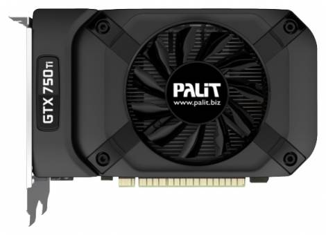 Видеокарта Palit GeForce GTX 750 Ti (1085МГц, GDDR5 2048Мб 5500МГц 128 бит)