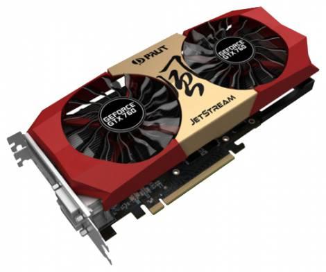 Видеокарта Palit GeForce GTX 760 (1072МГц, GDDR5 2048Мб 6200МГц 256 бит)