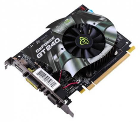 Видеокарта XFX GeForce GT 240 (550МГц, GDDR3 512Мб 2000МГц 128 бит)