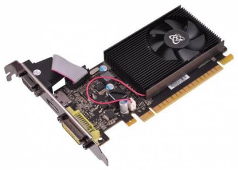 Видеокарта XFX GeForce GT 520 (810МГц, GDDR3 2048Мб 1066МГц 64 бит)
