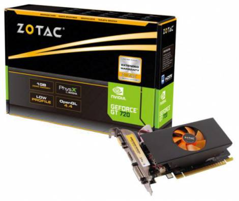 Видеокарта ZOTAC GeForce GT 720 (797МГц, GDDR5 1024Мб 5010МГц 64 бит)