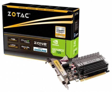 Видеокарта ZOTAC GeForce GT 720 (797МГц, GDDR3 1024Мб 1600МГц 64 бит)