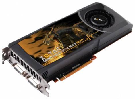Видеокарта ZOTAC GeForce GTX 580 (815МГц, GDDR5 1536Мб 4100МГц 384 бит)