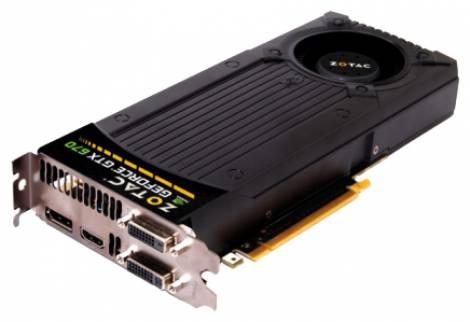 Видеокарта ZOTAC GeForce GTX 670 (915МГц, GDDR5 2048Мб 6008МГц 256 бит)