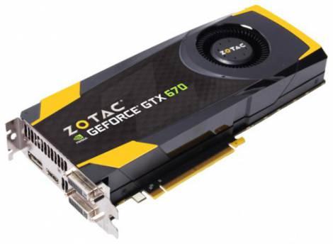 Видеокарта ZOTAC GeForce GTX 670 (928МГц, GDDR5 4096Мб 6008МГц 256 бит)