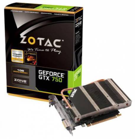 Видеокарта ZOTAC GeForce GTX 750 (1033МГц, GDDR5 1024Мб 5000МГц 128 бит)