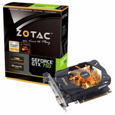 Видеокарта ZOTAC GeForce GTX 750 (1033МГц, GDDR5 1024Мб 5000МГц 128 бит)
