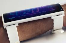 Концепт гибкого смартфона Portal для ношения на предплечье
